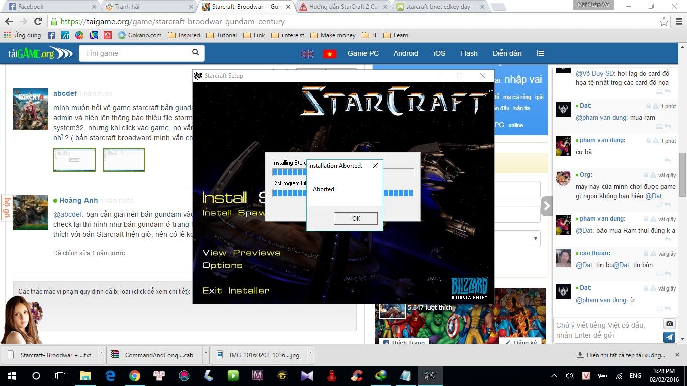 Starcraft: Broodwar + Gundam Century - Tai game | Download game